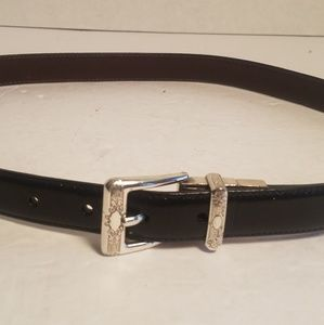 Brighton black leather belt